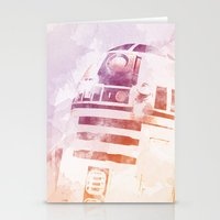 r2d2 Stationery Cards featuring R2D2 by eARTh