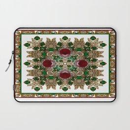 Kaleidoscope No. 30 Emeralds, Rubies and Diamonds Laptop Sleeve