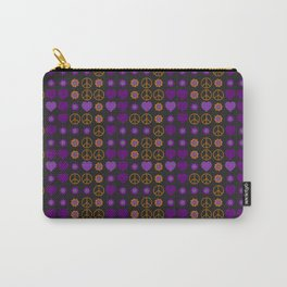 Halloween Peace Holiday Weave Carry-All Pouch