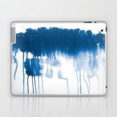 Paint 1 - indigo blue drip abstract painting modern minimal trendy home decor dorm college art Laptop & iPad Skin