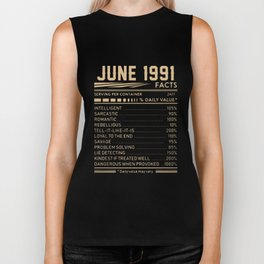 JUNE 1991 birthday t-shirts Biker Tank