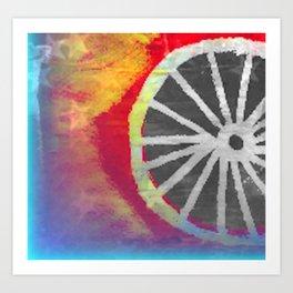 Bike abstract  Art Print