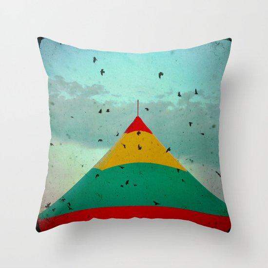 Circus Birds Throw Pillow