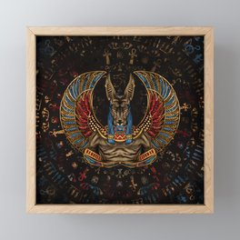 Anubis - Egyptian God Framed Mini Art Print