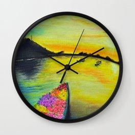 Morning on the Lake Kashmir Wall Clock