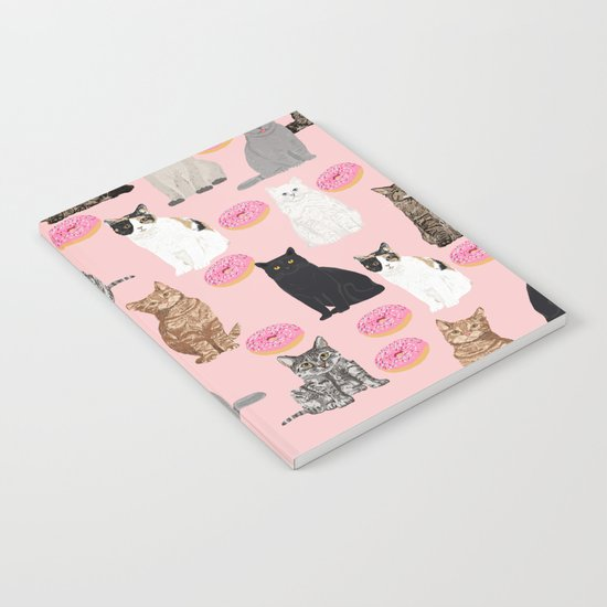 Cats with donuts cute cat breeds cat portraits pet portrait cat lady hipster gifts sprinkle donut Notebook