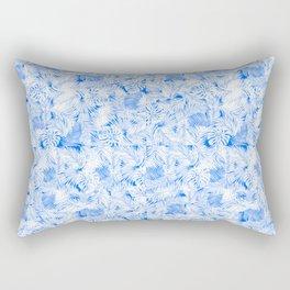 blue tropical leaves pattern Rectangular Pillow