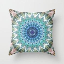 Mandala Turmalin  Throw Pillow