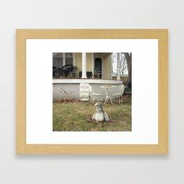 Yard Lady. Framed Art Print