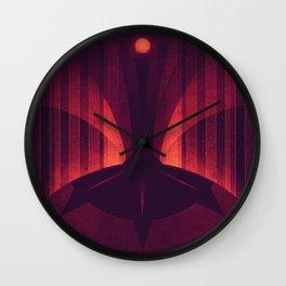 Io - The Sulfur Plumes Wall Clock