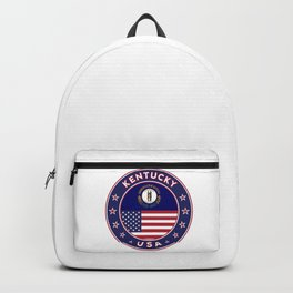 Kentucky, Kentucky t-shirt, Kentucky sticker, circle, Kentucky flag, white bg Backpack
