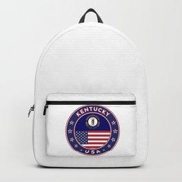 Kentucky, Kentucky t-shirt, Kentucky sticker, circle, Kentucky flag, white bg Backpack