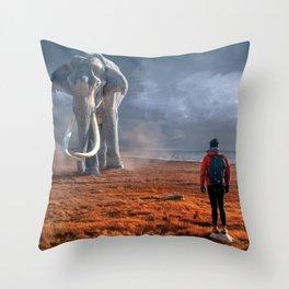 My Monolith Elephant Throw Pillow