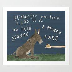 A Sponge Cake Art Print