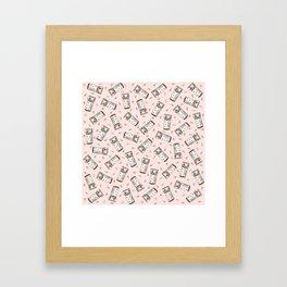 Rainbow Pill Pattern Framed Art Print