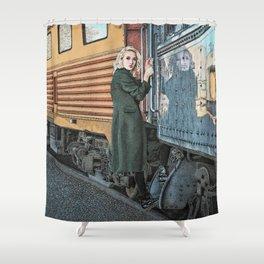 A Departure Shower Curtain