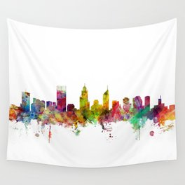 Perth Australia Skyline Wall Tapestry