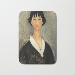 "Amedeo Modigliani ""Young Woman with Black Hair"" Bath Mat"
