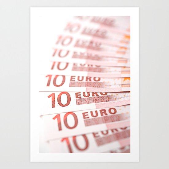 10 Euros Art Print