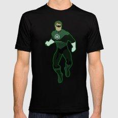 Green Lantern Mens Fitted Tee Black MEDIUM