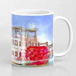 New Orleans Paddle Steamer Pop Art Coffee Mug