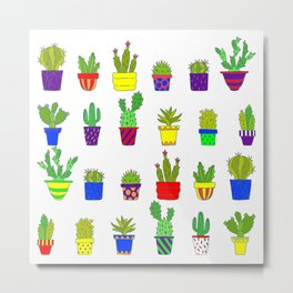 I Love Cactus Parade Metal Print