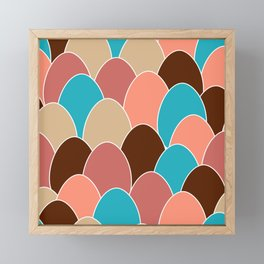 Colorful Eggs Repeating Pattern Framed Mini Art Print