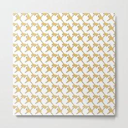 NAMAKEMONO : white seamless pattern Metal Print