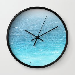 Water, Blue, Sea, Ocean, Minimal, Pattern, Modern art Wall Clock