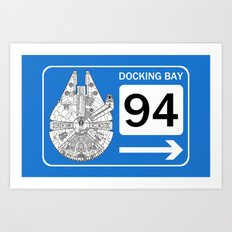 Docking Bay 94 Art Print