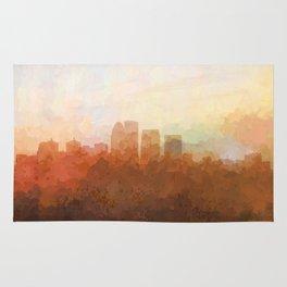 Louisville, Kentucky Skyline - In the Clouds Rug