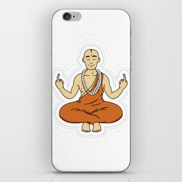 Spiritual peace, unfuck the world ;) iPhone Skin
