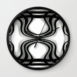 Nobel Squiggly Lines Wall Clock
