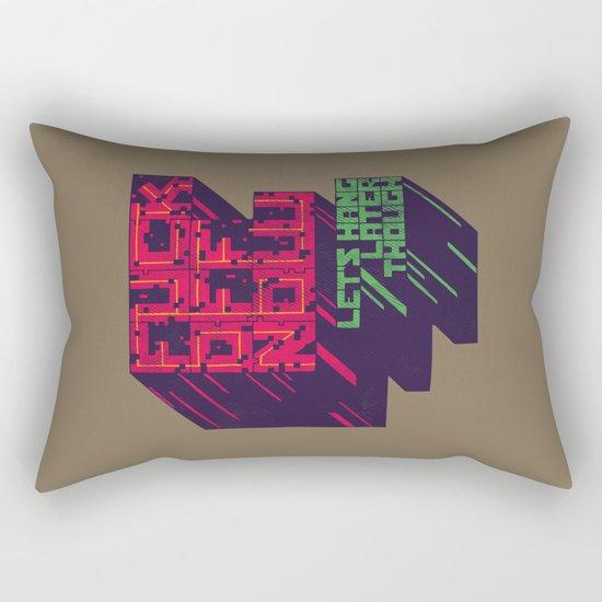 Not Now Rectangular Pillow