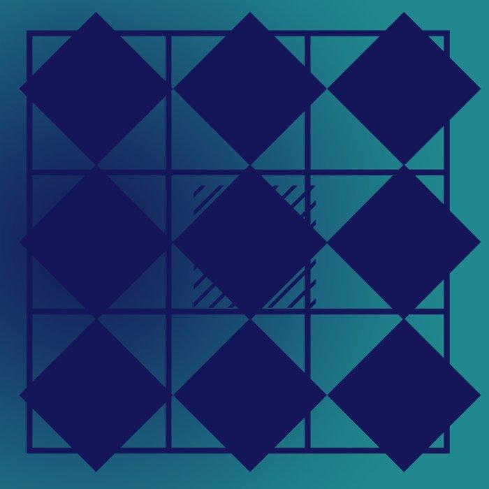 Blue,Diamond Shapes,Square Duvet Cover