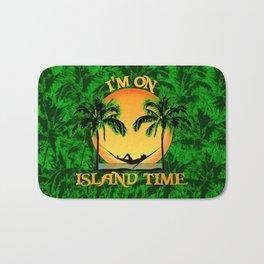 Palm Trees Tropical Island Time Bath Mat
