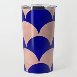BUMPY - pink/blue Travel Mug