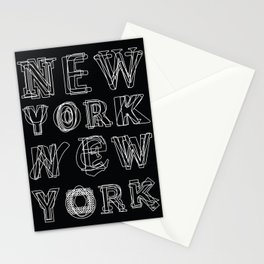 New York black and white Stationery Cards