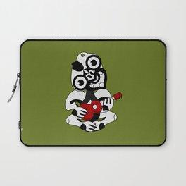 Black and Grey Hei Tiki playing a Ukulele Laptop Sleeve