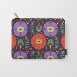 Flowerfully Folk Carry-All Pouch