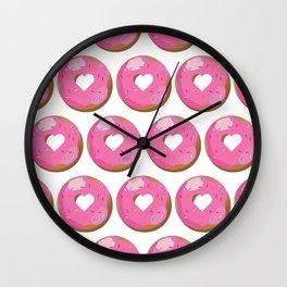Love Donut Pattern Wall Clock