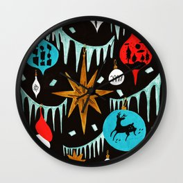 Mid Century Modern Christmas Tree Wall Clock