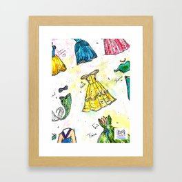 Nail Polish Princesses Framed Art Print