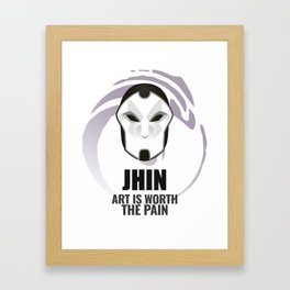 Jhin w/ quote Framed Art Print