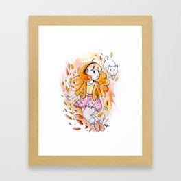 Fall for Bee Framed Art Print