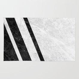White Striped Marble Rug