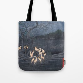 Utagawa Hiroshige - New Year's Eve Foxfires at the Changing Tree Tote Bag
