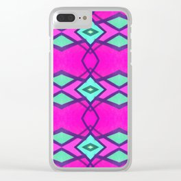 Graffiti Glam Clear iPhone Case
