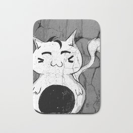 Dilly Kawaii Cat Art Print Bath Mat