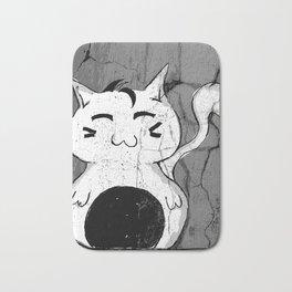 Dilly Kawaii Cat Art Print Bath Mat